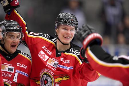 Christopher Mastomäki i Luleå-tröjan. Foto: Peter Skaugvold / BILDBYRÅN