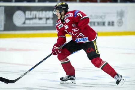 Jesper Lindgren i MODO-tröjan. Foto: Robbin Norgren / BILDBYRÅN