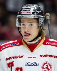Kim Tallberg i Troja-tröjan. Foto: NILS JAKOBSSON / BILDBYRÅN