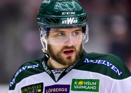 Mikael Wikstrand i FBK-tröjan. Foto: Peter Skaugvold / BILDBYRÅN