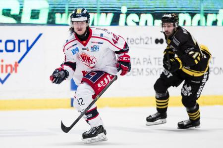 Oskar Drugge i Västerviks IK. Foto: Andreas L Eriksson / BildbyrŒån