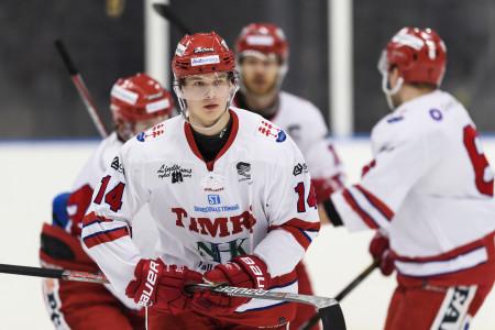 Elias Pettersson i Timrå-tröjan. Foto: Anders Bjurš / BILDBYRÅN