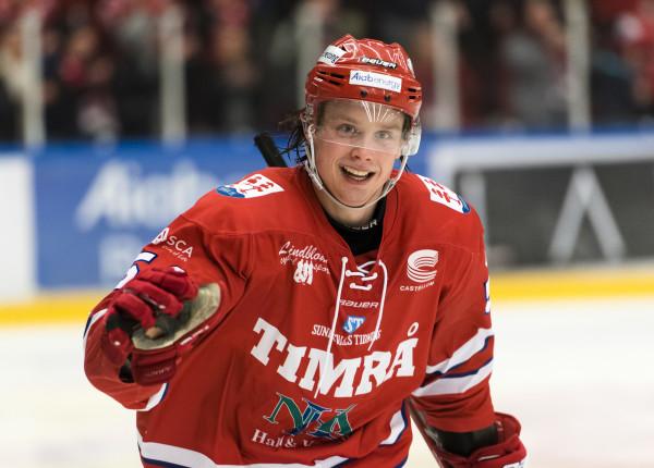 Jonathan Dahlén i Timrå-tröjan. Foto: PäŠr Olert / BILDBYRÅN
