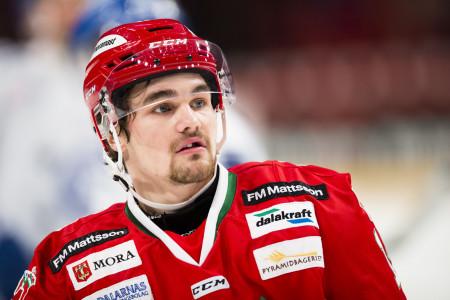 Kevin Gagné i Mora IK. Foto: Andreas Sandstršöm / BILDBYRÅN