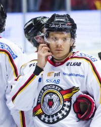 Marcus Oskarsson i Luleå-tröjan. Foto: Simon HastegŒård/ BILDBYRÅN
