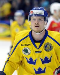 Nick Sörensen i Sverige-tröjan. Foto: Anders Bjurš / BILDBYRÅN