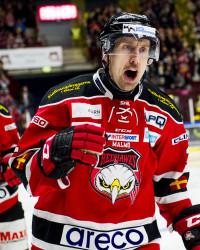 Erik Andersson i Malmö Redhawks. Foto: Ludvig Thunman / BILDBYRÅN
