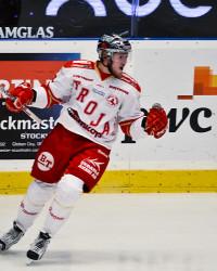 Joel Johansson i Troja-tröjam. Foto: BJÖRN TILLY / Bildbyrån
