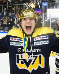 Lias Andersson i HV71-tröjan. Foto: Stefan Persson / BILDBYRÅN