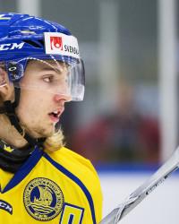 William Lagesson i Sverige-tröjan. Foto: Joel Marklund / BILDBYRÅN