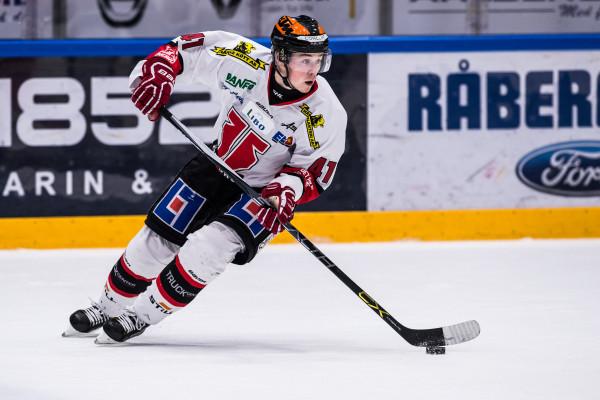 Joel Mustonen i Örebro Hockey. Foto: Magnus Lejhall / BILDBYRÅN