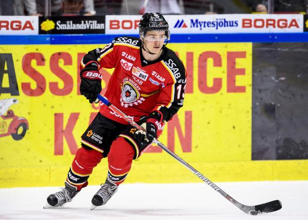 Julius Junttila i Luleå Hockey. Foto: Peter Skaugvold / BILDBYRÅN