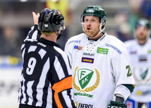 FäŠrjestads Martin Ršymark. Foto: Peter Skaugvold / BILDBYRÅN