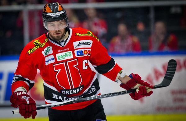 Nicklas Grossmann i Örebro Hockey. Foto: Johan Bernströšm / BILDBYRÅN