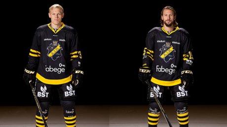 Albin Johansson och Robin Axbom. Foto: aikhockey.se