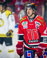 Kalle Jellvert i Örebro Hockey. Foto: Johan Bernstršöm / BILDBYRÅN
