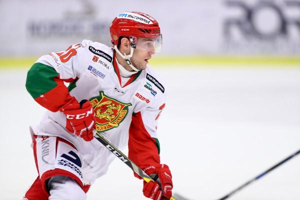 Moras Kevin Goumas under ishockeymatchen i Hockeyallsvenskan mellan Vita HŠsten och Mora den 9 december 2016 i Norrkšping.  Foto: Josefine Loftenius / BILDBYRÅN